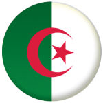 Algeria Country Flag 25mm Flat Back